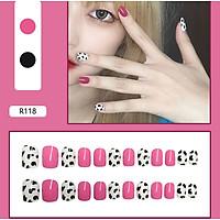 Bộ 24 móng tay giả nail thơi trang như hình (R-118)