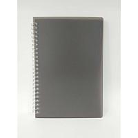 Sổ vở lò xo giấy kẻ caro basic bìa nhựa đen 84 trang A5