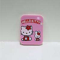 Gương kèm lược chữ nhật viền răng cưa Hello Kitty