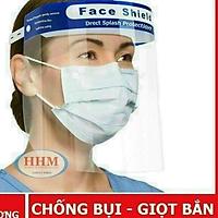 Kính Face Shield Chống Giọt Bắn Phòng Dịch Nhựa trong suốt có thể đi được cả ban đêm