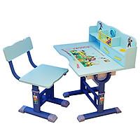 Bàn ghế học sinh tiểu học size 70cm có ngăn chứa đồ T353  giao màu ngẫu nhiên
