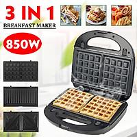 850W 220V 3in1 Sandwich Toaster Toastie Maker Household Non Stick Breakfast Machine Fry Eggs/Roast Meat/ Egg Rolls/ Sandwiches