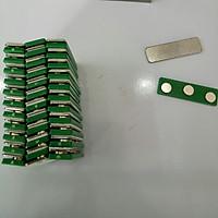 Bộ 10 cái Nam châm cài thẻ tên - 3 nút xanh