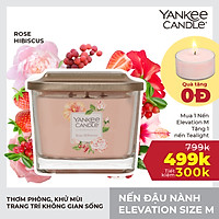 Nến ly vuông Elevation Yankee Candle size M - Rose Hibiscus (347g)