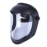 Face Shield Helmet Mask with Clear Polycarbonate Visor Anti FOG UV Blocking Protective Cover Safety Grinding
