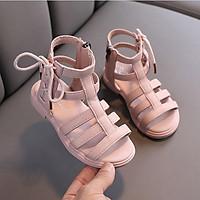 Giày boot bé gái sandal chiến binh dây cột nơ cho bé từ 3 - 11 tuổi