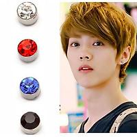Hoa tai, bông tai, khuyên tai nam đính đá nam châm cá tính phong cách Hàn Quốc