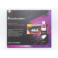Bộ màu vẽ Renaissance Acrylic 24 màu x12 ML (Thái Lan)