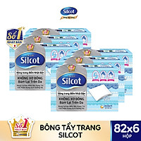 Combo 6 hộp bông tẩy trang Silcot (82 miếng/hộp)