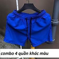 Combo 4 quần đùi nam mặc ngủ King168, Chất đũi chính phẩm mặc mát mẫu TOP2