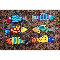 Cá Gỗ Tô màu  ( 50 con )