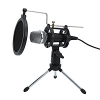 Mini Condenser Microphone PC Microphone 3.5mm Plug and Play Home Studio Podcast Vocal Recording Microphones with Mini