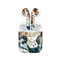 Miếng dán skin chống bẩn cho tai nghe AirPods in hình Dragon Ball - Trunks 3 - 7vnr90 (bản không dây 1 và 2)