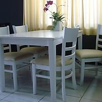 Bàn ăn tròn gỗ 4 ghế lưng tựa HTP-BA807