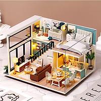 Mô Hình Nhà Búp Bê DIY - Comfortable Life L031 ( Kèm Mica + keo )
