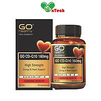 Viên uống bổ tim mạch GO CO Q10 160mg ngăn lão hóa tim mạch phòng ngừa tai biến tim mạch điều hòa huyết áp hộp 60 viên và 30 viên