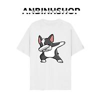 Áo thun nam nữ in hình Pug Thỏ đeo kính cực ngầu chất vải mềm mịn mát từ AnbinhShop
