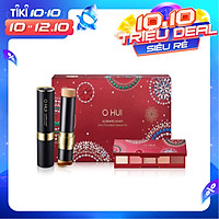 Bộ Kem nền dạng thỏi siêu che phủ kiểm soát nhờn OHUI Ultimate Cover Stick Foudation và bảng màu mắt đa năng