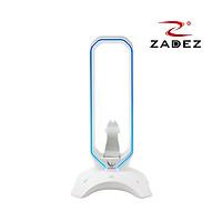 Giá treo tai nghe Led RGB cảm ứng, tích hợp Bungee mouse và 2 cổng USB 3.0 Zadez ZHS 701G tặng kèm miếng lót chuột da 26x21cm - Hàng chính hãng
