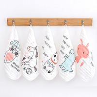 Set 5 khăn mặt vải xô 6 lớp cotton tinh chế 30cm x 30cm