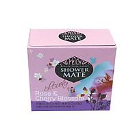 Xà bông tắm dưỡng da cao cấp giúp da mịn màng và làm sạch da SHOWERMATE Rose & Cherry Blossom 100g - Hàn Quốc Chính Hãng