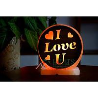 Đèn Đá Muối I Love You 3D Đế Cẩm Thạch