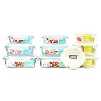 Bộ 10 Hộp Thủy Tinh Chịu Nhiệt Nắp Gài Glass Happy Cook HCG-10