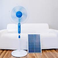 Quạt tích điện sử dụng pin năng lượng mặt trời JD-S888