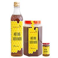 Combo Mật Ong Thiên Nhiên Honeyboy (500ml) Và Mật Ong Thiên Nhiên Honeyboy (1kg) - Tặng Mật Ong Thiên Nhiên Honeyboy (100ml)