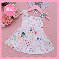 Đầm bé gái họa tiết - váy thiết kế cao cấp cho bé từ 1-8 tuổi