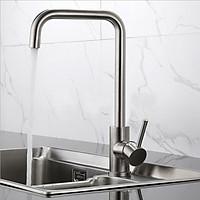 Vòi rửa chén bát inox 304 nóng lạnh KAMA RC05 cho bồn rửa chén bát nhà bếp với màu sắc nguyên bản, phù hợp với mọi lỗ vòi. Tặng kèm 2 dây cấp nước nóng lạnh 60 cm - Hàng chính hãng