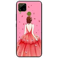 Ốp lưng dành cho Realme C15 mẫu Cô Gái Váy Hồng