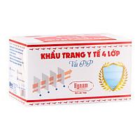 Khẩu trang y tế 4 lớp vải không dệt Hynam - (50 cái/ hộp) - Màu xanh