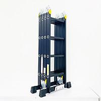 Thang nhôm gấp 4 đoạn Sumika SKM204 NEW (chữ A - 2.26m, chữ I - 4.7m), 14 tư thế sử dụng, tải trọng 150kg, sơn tĩnh điện, chống trầy xước