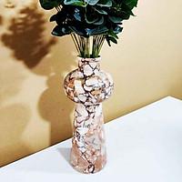 [Đá tự nhiên] Lọ hoa đẹp - Hồng Ý - BHH01