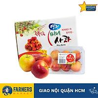 Táo Ruby mini Hàn Quốc (Hộp 400G) | Táo mini có kích thước khá nhỏ, có vị ngọt dịu pha chút chua nhẹ đặc trưng, mùi thơm dịu.