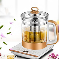 Bình đun trà thủy tinh - bình nấu ăn, hầm thức ăn đa năng chế độ hẹn giờ thông minh