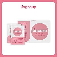 Bột vệ sinh Lincare tiệt trùng Cốc nguyệt san 12 gói + tặng túi đựng mỹ phẩm