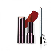 Bộ đôi VDIVOV Son lì Lip Cut Rouge Velvet OR203 APGUJEONG ORANGE 3.8g và Eye On Gel Pencil Liner BB801 ( Pearl) 0.5g