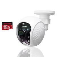 [ TẶNG THẺ 16GB ] Camera Gắn Tường Cố Định Treo Tường Full HD 1080P 2.0Mpx - Hình Ảnh Đẹp - Âm Thanh Đàm Thoại 2 Chiều Rõ Ràng - Nhập Khẩu