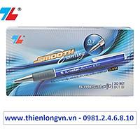 Hộp 20 cây bút bi 0.7mm Thiên Long - TL036 màu xanh
