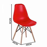 Ghế nhựa Eames chân gỗ đan cao cấp