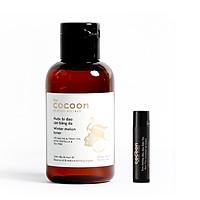 Combo toner bí đao rửa mặt cocoon 140ml + Son dưỡng môi dầu dừa bến tre the cocoon 5g