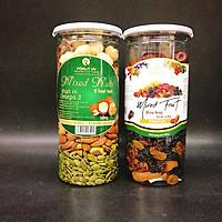 Combo 2 hũ mixed 7 trái cây sấy và mixed 8 hạt nhập khẩu Fonut (mỗi hũ 500g)