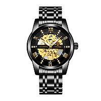 TEVISE Men Automatic Self-Wind Watch Mechanical Business Watches Fashion Hollow Steel Wrist Watches