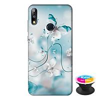 Ốp lưng điện thoại Asus Zenfone Max Pro M2 hình Cánh Bướm Xanh tặng kèm giá đỡ điện thoại iCase xinh xắn - Hàng chính hãng