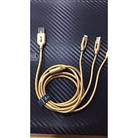 Cáp sạc BYZ dây nylon vàng cao cấp dài 1.2M - Hàng chính hãng