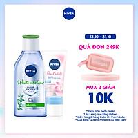 [Mua 1 tặng 1] Nước tẩy trang NIVEA kiểm soát nhờn White Oil Clear Micellar Water (400ml) - 84212 - Tặng Sữa Rửa Mặt Pearl White 50gr