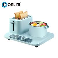 Donlim Toaster 3-in-1 Electric Breakfast Station Breakfast Maker w/Toaster Oven/Steamer/Frying Pan DL-3405 220V