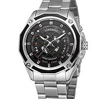 đồng hồ nam Forsining A1030 Skeleton Luxury Watch thời trang - màu bạc